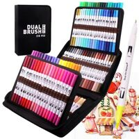 Coloring Pens Markers 120 Colors Fine Brush Dual Tips Art Calligraphy Drawing