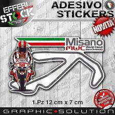 Adesivo Sticker MISANO WORLD CIRCUIT MARCO SIMONCELLI LOVE ITALY SUPER SIC 58