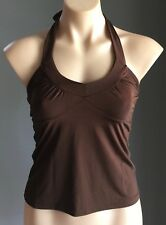 70's Disco Gem POP STAR Brown Stretch Halter Neck Top Size M/10