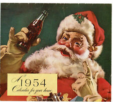 1954 Coke Calendar - Santa