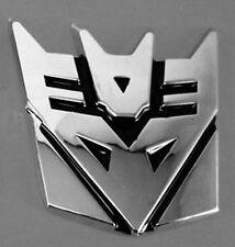 3D Alloy Black Transformers DECEPTICONS Aluminium Emblem Badge Car Stickers L78S