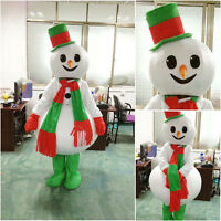 2018 Snowman Mascot Costume Cosplay Party Christmas Fancy Dress Parade Outfits #