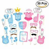 Tinksky 30pcs Baby Shower Photo Booth Props for Girls Boys Birthday Party Gender