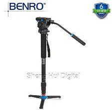 Benro A48TDS4 Monopod+Unipod Holder+Fluid head,Professional Photography tripod