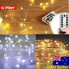 2-10M LED Battery Powered Copper Wire String Fairy Xmas Party Lights Warm White