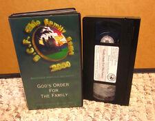 HAROLD BECKETT God's Order for the Family VHS sermon 2000 BCF Ohio Christian