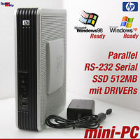 MINI COMPUTER PC AMD 1500+ WINDOWS 98 XP EMBEDDED SSD 512MB RS-232 VGA PARALLEL