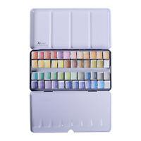 MEEDEN Watercolor Paint Set Art Watercolor Tin Palette with 48 Colors Half Pans