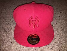 New York Yankees New Era 59Fifty Alternate Red Logos All Over Fitted Hat Size 7
