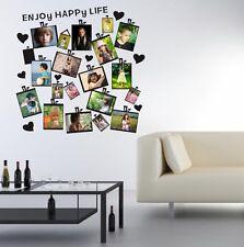 20 PIÈCES Cadre Photo Set Mur Noir Autocollant Vinyle Décalque Décoration Maison