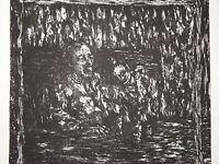 GHELLINCK XXe GRAVURE ORIGINALE ECOLE FLAMANDE BELGIQUE POST EXPRESSIONNISME e