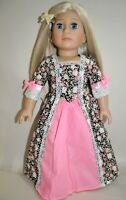 18 Doll Clothes Black Peasant Dress Fits American Girl Dolls  Our Generation