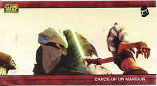 Star Wars Clone Wars Widevision Silver Stamped Parallel Base Card [500] #45