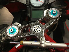 Ducati 749 749R 749S 999 999R 999S triple tree clamp cover real carbon fiber
