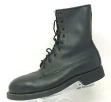 VTG Addison Shoe Co Black Leather Military Work Boot Steampunk Cosplay Size 5 R