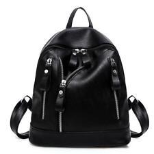 Women's Leather Backpack Anti-Theft Rucksack School Shoulder Bag Black Handbags