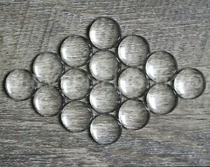 """14mm (9/16"""") Round Glass Cabochons - Clear Magnifying Dome Cabs - 9/16 inch"""