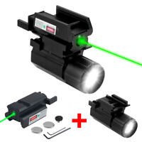 Tactical Zoom Hunting Light Red/Green Dot Laser Sight For Airsoft Rail Pistol