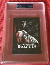 "PSA/DNA ENCAPSULATED CHRISTOPHER LEE SIGNED ""LE CAUCHEMAR DE DRACULA"" POSTCARD"