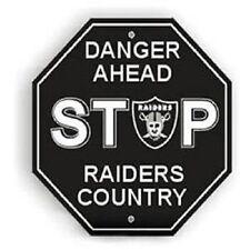 NFL Oakland Raiders Stop Sign Room Bar Decor NEW 12 x 12