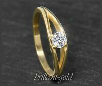Diamant 585 Gold Damen Ring; 0,27ct, River E, Si1; mit original DGI Zertifikat