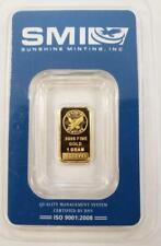 1 - Sunshine 1 Gram .9999 GOLD Bar sealed .0321AGW L7673