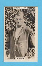 CRICKET - PHILLIPS - RARE CRICKET CARD -  J.  W.  HITCH  OF  SURREY  -  1924