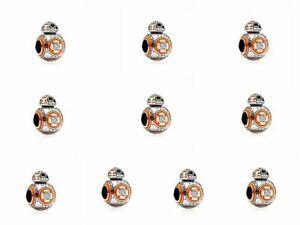 10pcs European Silver Charm Beads For Bracelet Necklace Pendant Chain ga12