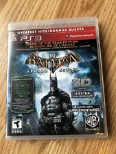 Batman: Arkham Asylum  (Playstation 3, 2009) PS3 Cib Game H2