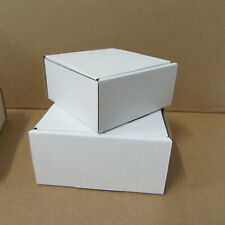 100 SMALL WHITE ASSORTED DIECUT CARDBOARD BOXES POSTAL BOXES WHITE CRAFT BOXES,,