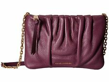 NWTS Marc By Marc Jacobs Gathered Ruched Pouch Chain Crossbody Bag IRIS Purple