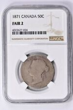 1871 Canada 50 Cents NGC FAIR 2  Witter Coin