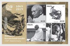Malta 2019 malte Birth of Mohandas Karamchand Gandhi - 150th Anniversary ms1v **