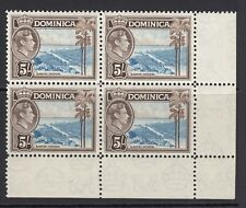 DOMINICA 1938-1947 DEFINS SG108 MNH BLOCK OF 4 CAT £72