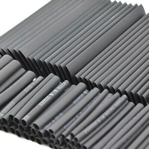 127Pcs Black Glue Waterproof Heat Shrink Sleeving Tubing Tube Assortment Kit