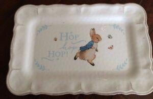 Pottery Barn Kids Easter Peter Rabbit Platter Rectangle Brand New Last one