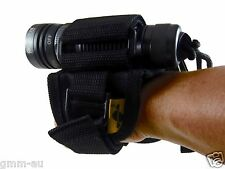 Scuba Dive Torch Light Hand Free Holder Soft Hand mount Military style