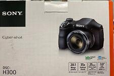 Sony Cyber-shot DSC-H300 20.1MP Digital Camera - Black - - With Accessories