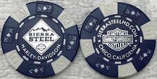 Sierra Steel Harley-Davidson® in Chico, CA Collector Poker Chip Blue/White NEW