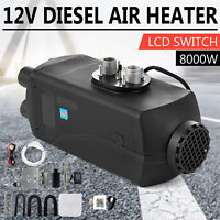 Air Diesel Parking Fuel Heater 12V 8KW LCD Switch 15L Tank For Truck Boat Car