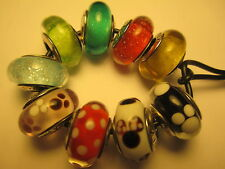Lots 9 Authentic Pandora Silver 925 Ale Disney Collection Mickey Red Bead Charm