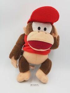 "Super Donkey Kong B1205 Diddy Kong Yujin Plush 8"" Toy Doll Japan Nintendo"