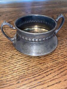 Antique Silver Sugar Bowl No Lid 693