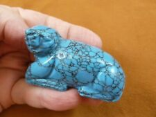 (Y-Seal-709) blue Howlite Seal gemstone carving Figurine gem love seals sea lion