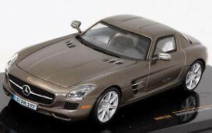 Mercedes SLS AMG 2010 Monza Grey 1:43 Scale Die-cast Model Car by IXO Models