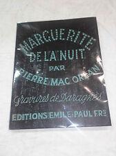 Mac Orlan illustré par Daragnès - Marguerite de la nuit - Tirage a 570 Ex.