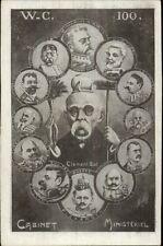 French Political Propaganda Cabinet Ministeriel WC 100 c1910 Postcard