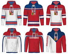 NEW 2018 Team Czech Republic Hockey Hoodie NHL JAGR VORACEK ERAT HERTL PLEKANEC