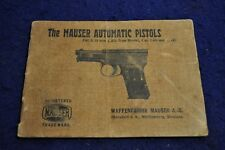 ORIGINAL 1920's GERMAN MAUSER 1910/1914 PISTOL MANUAL
