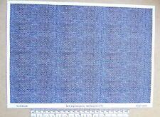 """OO/HO gauge (1:76 scale) """"dark engineers brick"""" -  paper - A4 sheet"""